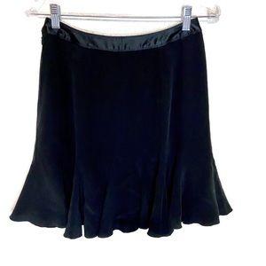 Ann Taylor 2P women's black 100% silk skirt